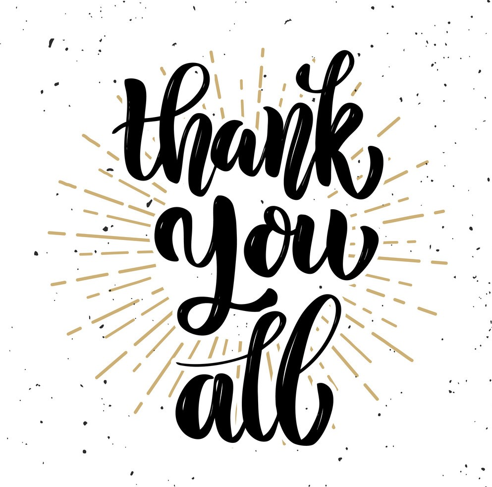 thank you all hand drawn motivation lettering vector 18581955 1